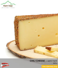 CHILI CHEESE - SPICY TASTE - semi hard cheese