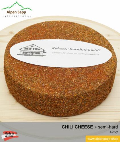 CHILI CHEESE WHEEL - SPICY TASTE - semi hard cheese