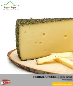 HERBAL CHEESE - MILD/SPICY TASTE - medium-hard cheese