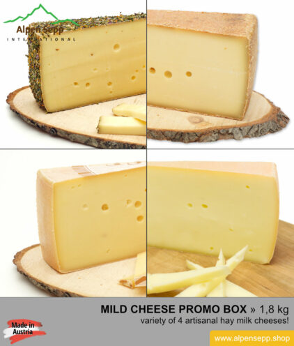 Mild cheese promo box - 4 different alps cheeses