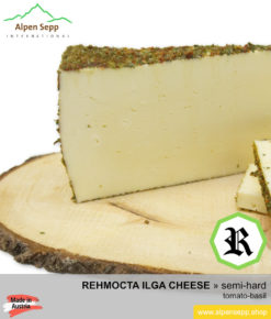 REHMOCTA CHEESE SPECIALTY » Ilga « - semi-hard with tomato and basil