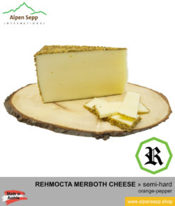 REHMOCTA CHEESE SPECIALTY » Merboth « - semi-hard with orange and pepper